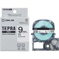 テプラPROテープ SS9K 白に黒文字 9mm