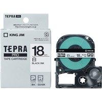 テプラPROテープ SS18K 白に黒文字 18mm