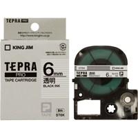 PROテープ ST6K-20 透明に黒文字 6mm 20個