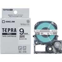 テプラPROテープ ST9K 透明に黒文字 9mm