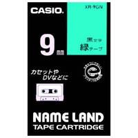 ラベルテープ XR-9GN 緑に黒文字 9mm