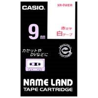 ラベルテープ XR-9WER 白に赤文字 9mm
