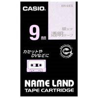 透明テープ XR-9XS 透明に銀文字 9mm