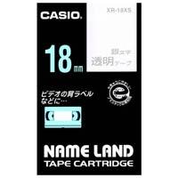 透明テープ XR-18XS 透明に銀文字 18mm