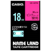 蛍光テープ XR-18FPK 桃に黒文字 18mm_選択画像01