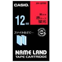 蛍光テープ XR-12FRD 赤に黒文字 12mm