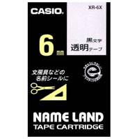 透明テープ XR-6X 透明に黒文字 6mm