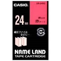 ラベルテープ XR-24RD 赤に黒文字 24mm_選択画像01
