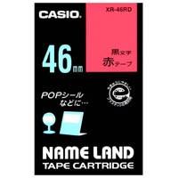 ラベルテープ XR-46RD 赤に黒文字 46mm