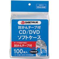 △CD/DVDソフトケース 両面100枚 A407J