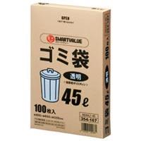 ゴミ袋 LDD 透明 45L 500枚 N044J-45P