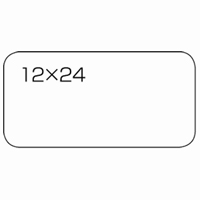 白無地ラベル強粘着12×24(360片*5)B554J-5