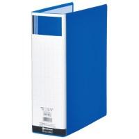 パイプ式ファイル片開き青1冊 D628J
