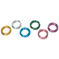 カラーアルミ線 ピンク1.5mmφ 2314-765