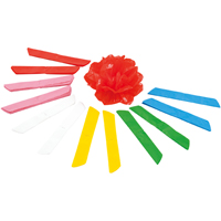 ビニール折花 12個 6色(各2個入)
