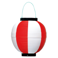 ポリ提灯 40-7037 赤白
