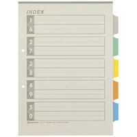 再生インデックスA4S 5色5山10組 D137J-5Y