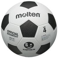 サッカーボールゴム製 4号 白*黒 B614J-WB