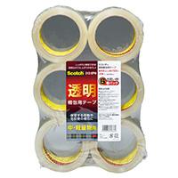 透明梱包用テープ 313 6PN 6巻入×6パック