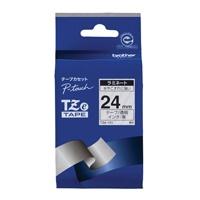 文字テープ TZe-151透明に黒文字 24mm