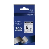 文字テープ TZe-211白に黒文字 6mm