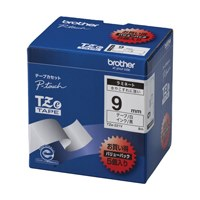 文字テープ TZe-221V白に黒文字 9mm 5個