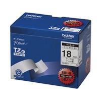 文字テープ TZe-241V白に黒文字 18mm 5個