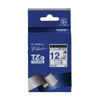 布テープ TZe-FA3白に青文字 12mm