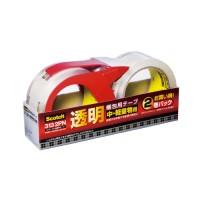 透明梱包用テープ313 2PN 2巻+カッター1個