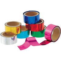メッキテープホログラム7色組25mm×10m巻