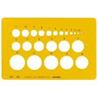テンプレート円定規1-843-0103