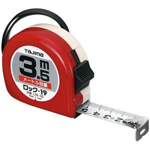 ロック式巻尺 19mm×3.5m L19-35BL