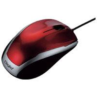 LEDマウス有線3ボタン MUS-UKT115R レッド
