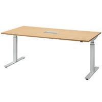 電動昇降テーブル FWD-W1890 ナチュラル