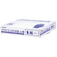 サラヤエンボス手袋PE 青 M 200枚入