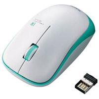 ワイヤレスLEDマウス グリーン M-IR07DRGN