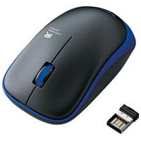 ワイヤレスLEDマウス ブルー M-IR07DRBU