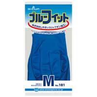 b_ゴム手袋ブルーフィット Mサイズ 181