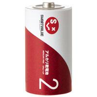 b アルカリ乾電池Ⅱ 単2×100本N222J-2P-50