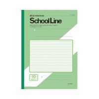 A4スクールライン緑表紙10ミリ横罫 LAY10G