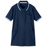 半袖ロングポロシャツネービーL