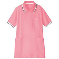 半袖ロングポロシャツピンクS