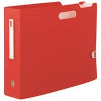 ドキュメントBOX A4横 レッド F-7691-3