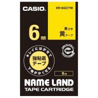 ラベルテープ XR-6GCYW 黒文字黄テープ6mm