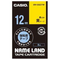 ラベルテープXR-12GCYW 黒文字黄テープ12mm