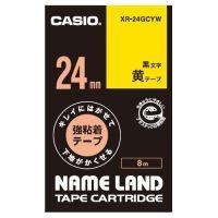 ラベルテープXR-24GCYW 黒文字黄テープ24mm