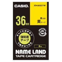 ラベルテープXR-36GCYW 黒文字黄テープ36mm