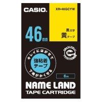 ラベルテープXR-46GCYW 黒文字黄テープ46mm