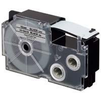 ラベルテープXR-18SCSR 黒文字銀テープ18mm