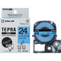 テプラPROテープ SCY24B 青に黒文字 24mm